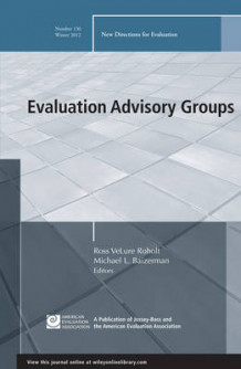 Evaluation Advisory Groups av EV (Evaluation) (Heftet)