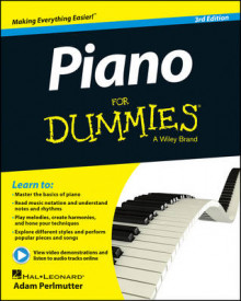 Piano For Dummies av Hal Leonard Publishing Corporation, Adam Perlmutter og Consumer Dummies (Blandet mediaprodukt)