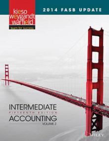 2014 FASB Update Intermediate Accounting 15e Volume 2 av Donald E Kieso (Innbundet)