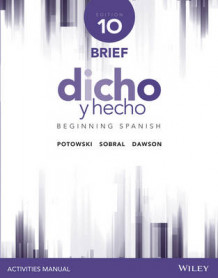 Dicho y Hecho, Edition 10 Brief Activities Manual av Kim Potowski (Heftet)