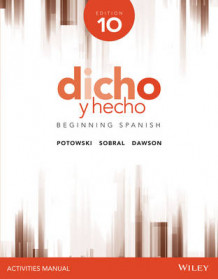 Dicho y Hecho, Edition 10 Activities Manual av Kim Potowski (Heftet)