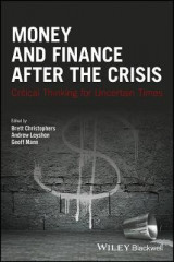 Omslag - Money and Finance After the Crisis