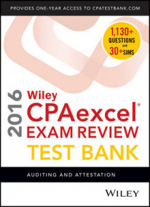 Wiley CPAexcel Exam Review 2016 Test Bank av O. Ray Whittington (Heftet)