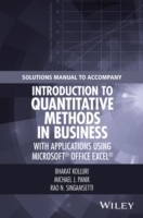 Omslag - Solutions Manual to Accompany Introduction to Quantitative Methods in Business: with Applications Using Microsoft Office Excel