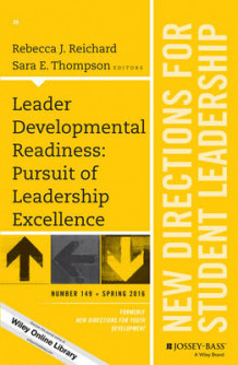 Leader Developmental Readiness: Pursuit of Leadership Excellence: New Directions for Student Leadership Number 149 av Rebecca J. Reichard (Heftet)