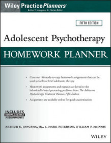 Adolescent Psychotherapy Homework Planner, Fifth Edition av Arthur E. Jongsma, L. Mark Peterson og William P. McInnis (Heftet)