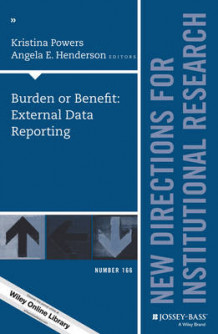 Burden or Benefit: External Data Reporting: Number 166 (Heftet)