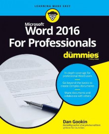 Word 2016 for Professionals For Dummies av Dan Gookin (Heftet)