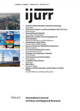 Omslag - International Journal of Urban and Regional Research: Volume 40, Number 1