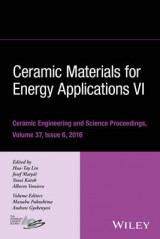 Omslag - Ceramic Materials for Energy Applications VI