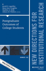 Omslag - Post-Graduate Outcomes of College Students: New Directions for Institutional Research Number 169