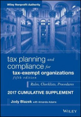 Omslag - Tax Planning and Compliance for Tax-Exempt Organizations 2017: Cumulative Supplement