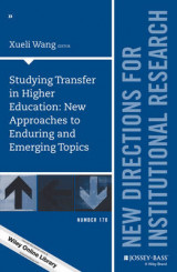 Omslag - Studying Transfer in Higher Education: New Approaches to Enduring and Emerging Topics: Number 170