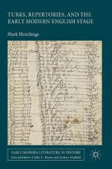 Omslag - Turks, Repertories, and the Early Modern English Stage