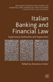 Italian Banking and Financial Law: vol. 1 (Innbundet)