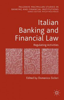 Italian Banking and Financial Law (Innbundet)