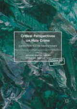 Omslag - Critical Perspectives on Hate Crime 2016