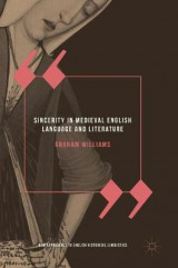Omslag - Sincerity in Medieval English Language and Literature