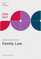 Omslag - Core Statutes on Family Law 2016-17