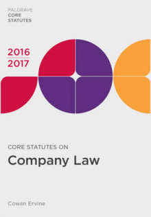 Core Statutes on Company Law 2016-17 av Cowan Ervine (Heftet)