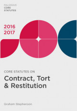 Omslag - Core Statutes on Contract, Tort & Restitution 2016-17