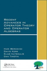 Omslag - Recent Advances in Operator Theory and Operator Algebras