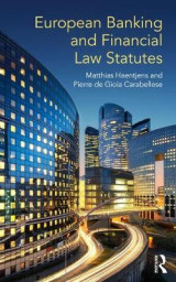 Omslag - European Banking and Financial Law Statutes