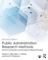 Omslag - Public Administration Research Methods