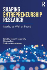 Omslag - Shaping Entrepreneurship Research