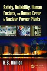 Omslag - Safety, Reliability, Human Factors, and Human Error in Nuclear Power Plants