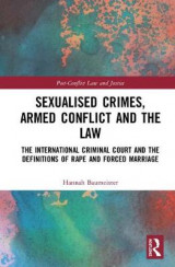 Omslag - Sexualised Crimes, Armed Conflict and the Law