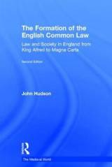 Omslag - The Formation of the English Common Law