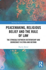 Omslag - Peacemaking, Religious Belief and the Rule of Law