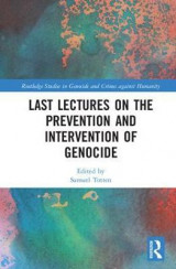 Omslag - Last Lectures on the Prevention and Intervention of Genocide