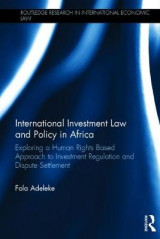 Omslag - International Investment Law and Policy in Africa