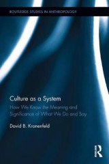 Omslag - Culture as a System