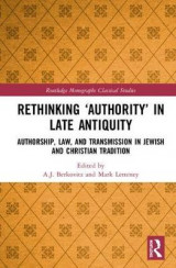 Omslag - Rethinking `Authority' in Late Antiquity