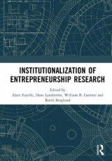 Omslag - Institutionalization of Entrepreneurship Research