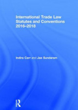 Omslag - International Trade Law Statutes and Conventions 2016-2018