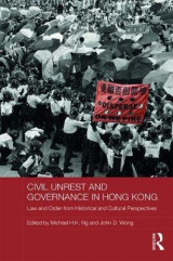 Omslag - Civil Unrest and Governance in Hong Kong
