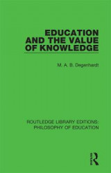 Omslag - Education and the Value of Knowledge