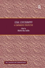 Omslag - Legal Lexicography
