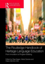 Omslag - The Routledge Handbook of Heritage Language Education
