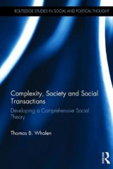 Omslag - Complexity, Society and Social Transactions