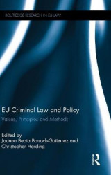Omslag - EU Criminal Law and Policy