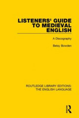 Omslag - Listeners' Guide to Medieval English