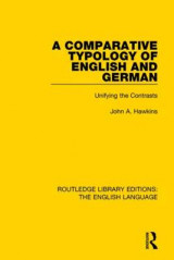 Omslag - A Comparative Typology of English and German