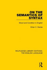 Omslag - On the Semantics of Syntax