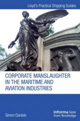 Omslag - Corporate Manslaughter in the Maritime and Aviation Industries