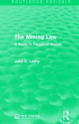 Omslag - The Mining Law